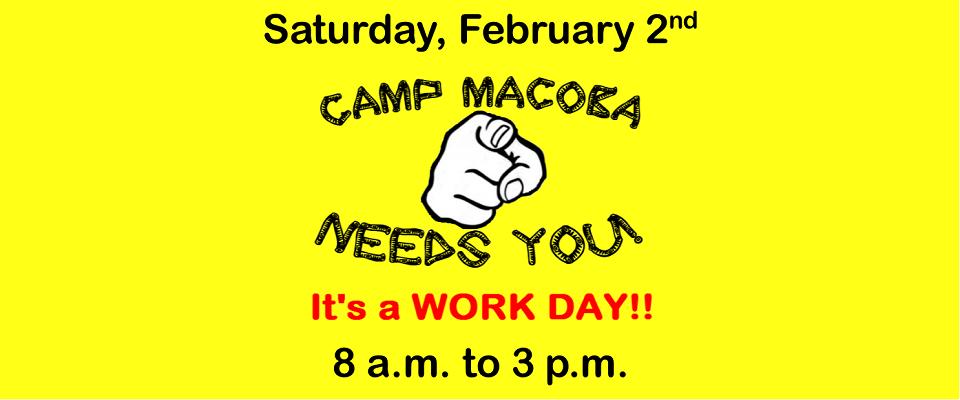 Camp MACOBA Work Day @ Camp MACOBA