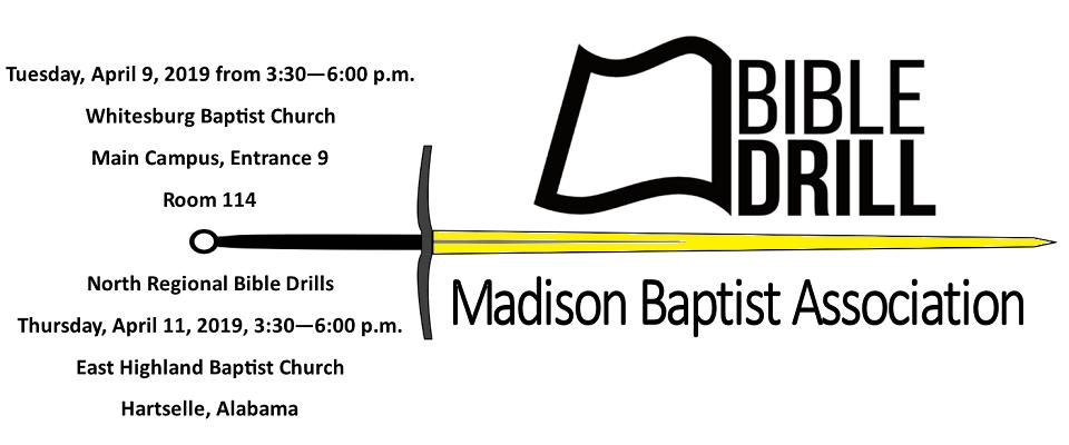 Madison Baptist Associational Bible Drills @ Whitesburg Baptist Church, Main Campus, Entrance 9, Room 114
