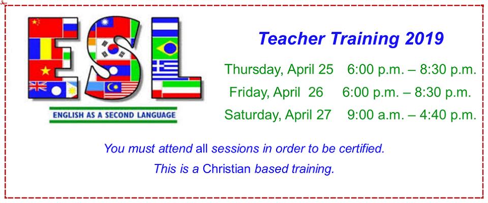 ESL Teacher Training Day 1 @ Madison Baptist Association