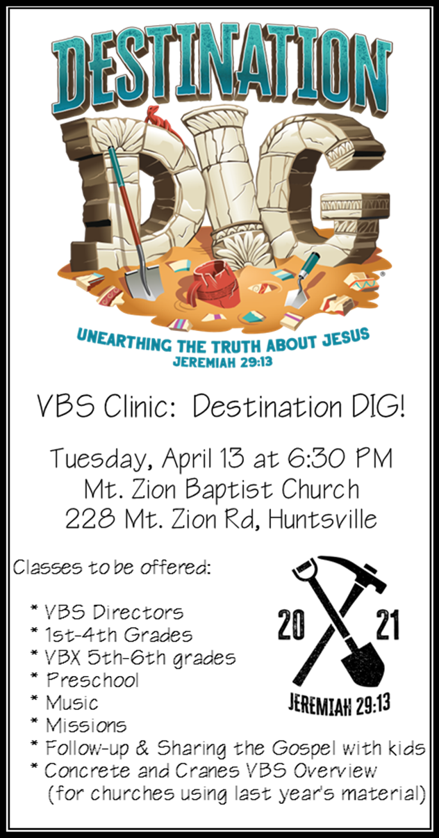 VBS Clinics @ Mt. Zion Baptist Church